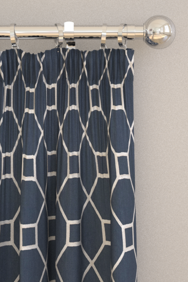 Sanderson Baroque Trellis Indigo Curtains - Product code: 236356
