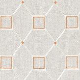 Sanderson Baroque Trellis Russet / Linen Fabric - Product code: 236358