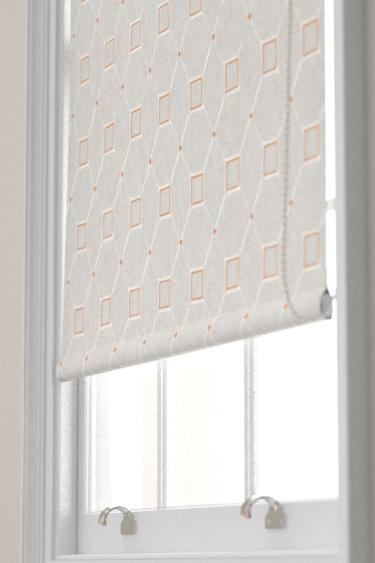 Sanderson Baroque Trellis Russet / Linen Blind