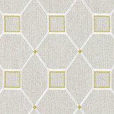 Sanderson Baroque Trellis Daffodil / Linen Fabric - Product code: 236359
