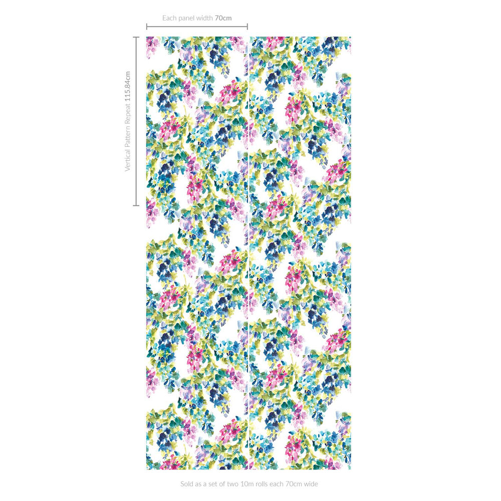 bluebellgray Catrin Set of 2 x 10m rolls Multi-coloured Wallpaper - Product code: WM001