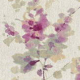 Sanderson Delphiniums Grape Fabric