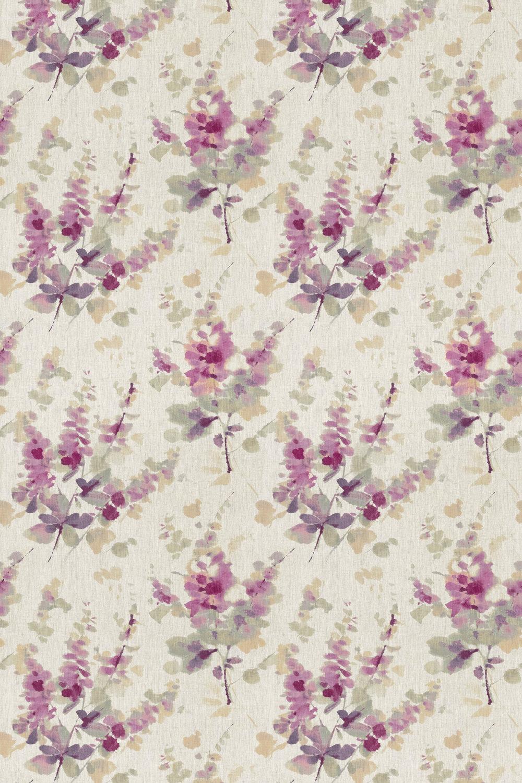 Sanderson Delphiniums Grape Fabric main image