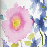 bluebellgray Florrie Mural set of 4 x 3m panels Blue / Pink