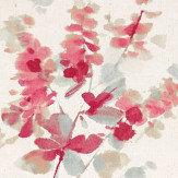 Sanderson Delphiniums Coral Fabric