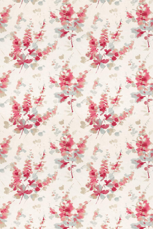 Sanderson Delphiniums Coral Fabric - Product code: 226290