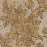 Roberto Cavalli Metallic Floral Trail Metallic Copper Wallpaper