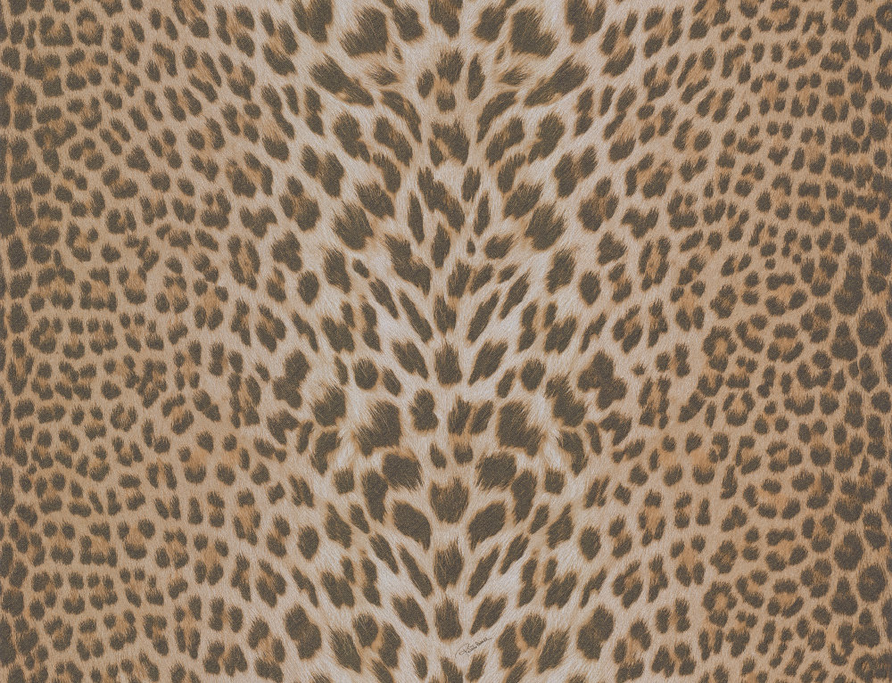 Roberto Cavalli Glitter Leopard Print Brown Wallpaper - Product code: 12017