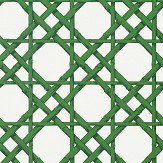 Thibaut Cyrus Cane Emerald Green Wallpaper