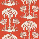 Thibaut Palm Island Coral Wallpaper - Product code: T13147
