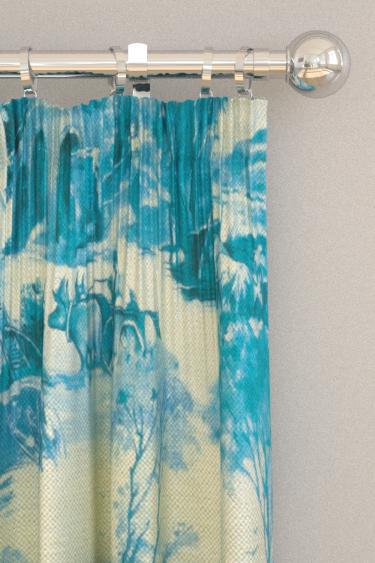 Clarke & Clarke Anastacia Delft Curtains - Product code: F0997/03