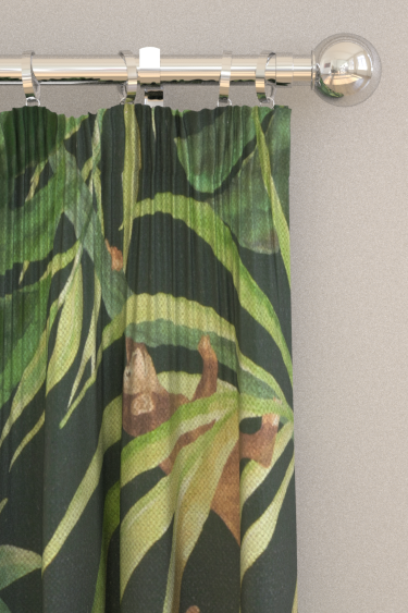 Clarke & Clarke Monkey Business Charcoal Curtains - Product code: F0998/01
