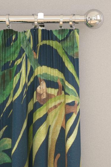 Clarke & Clarke Monkey Business Indigo Curtains - Product code: F0998/02