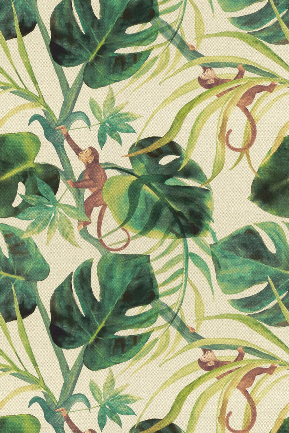 Clarke & Clarke Monkey Business Natural Fabric - Product code: F0998/03