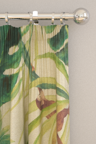 Clarke & Clarke Monkey Business Natural Curtains - Product code: F0998/03