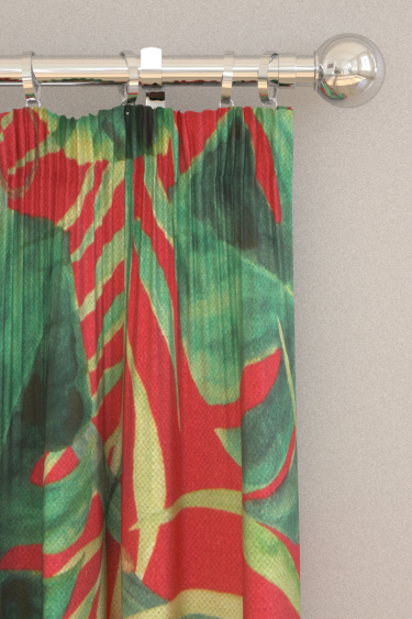 Clarke & Clarke Monkey Business Rouge Curtains - Product code: F0998/04