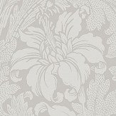 Eco Wallpaper Acanthus Silver Grey Wallpaper