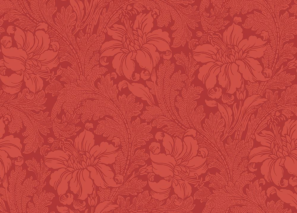 Engblad & Co Acanthus Red Wallpaper main image