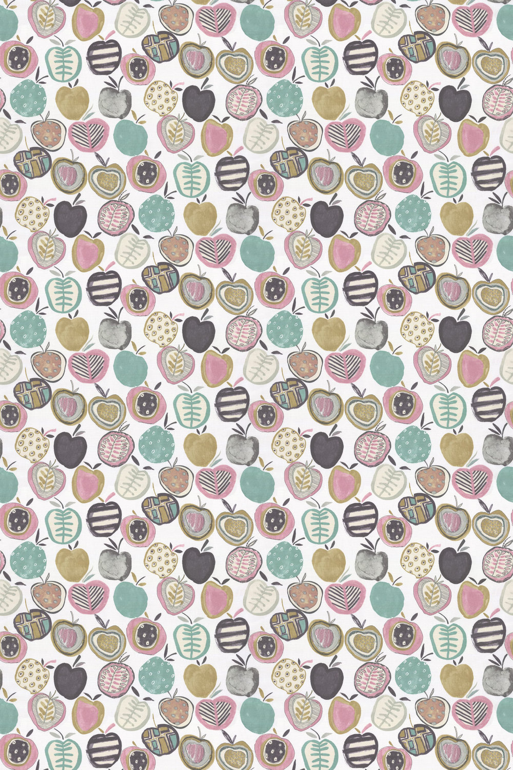 Apples Fabric - Marshmallow - by Prestigious