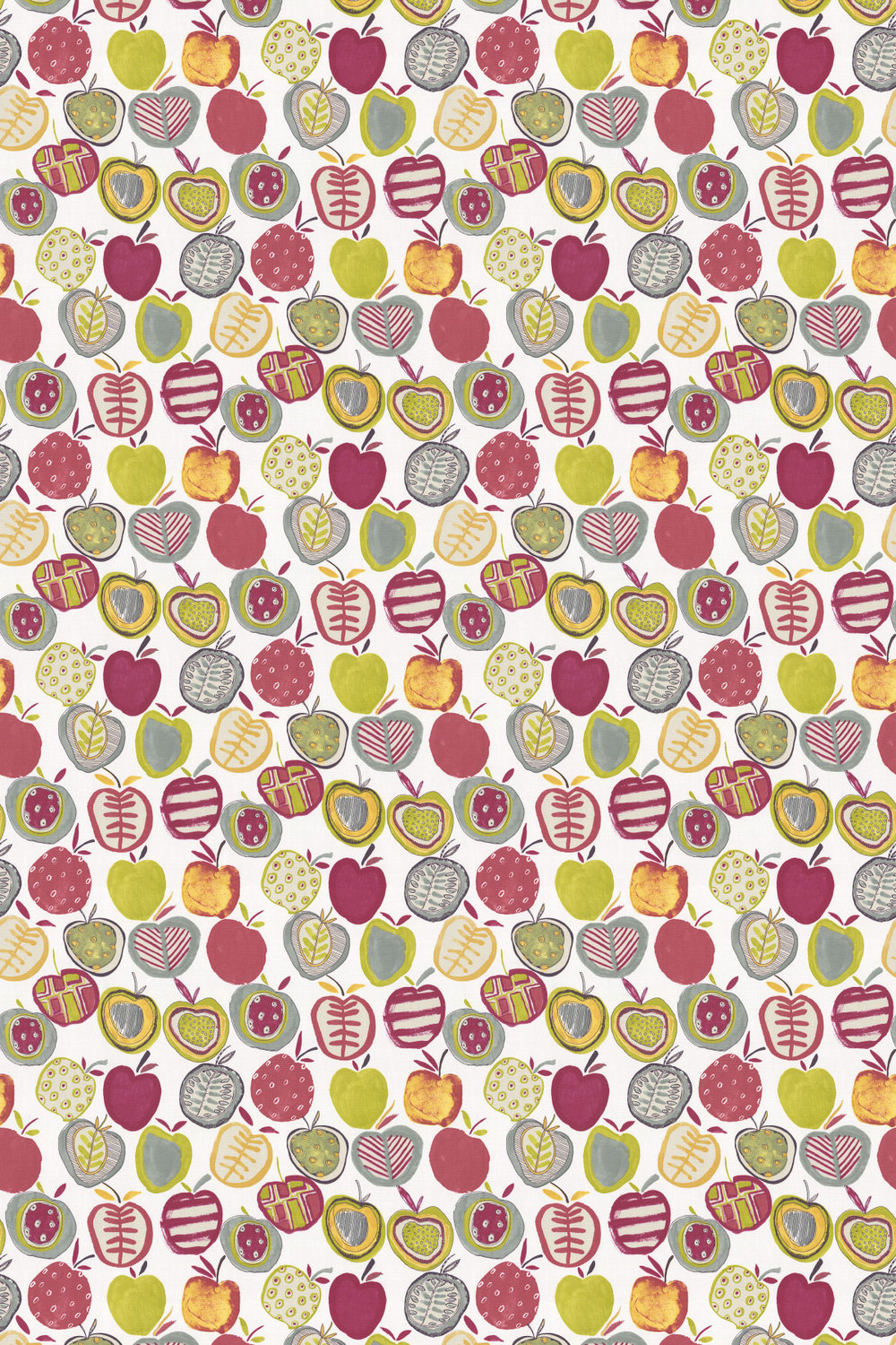 Apples Fabric - Berry - by Prestigious