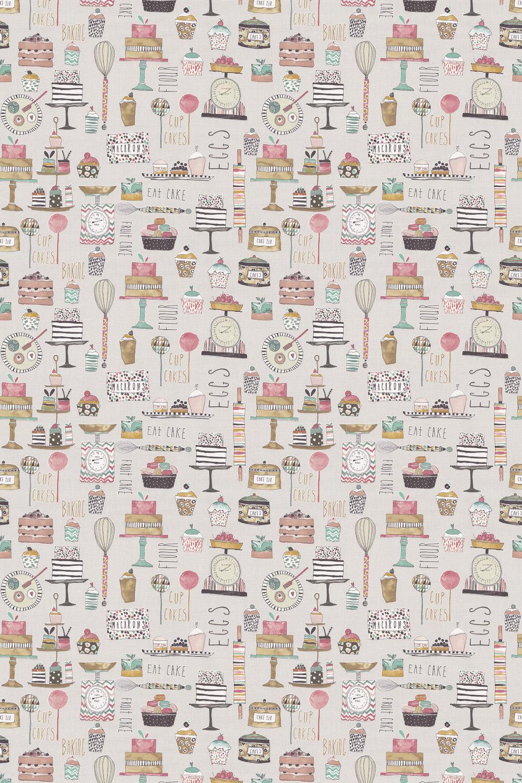 Eat Cake Fabric - Marshmallow - by Prestigious