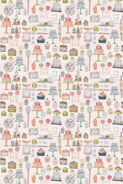 Eat Cake Fabric - Marmalade - by Prestigious