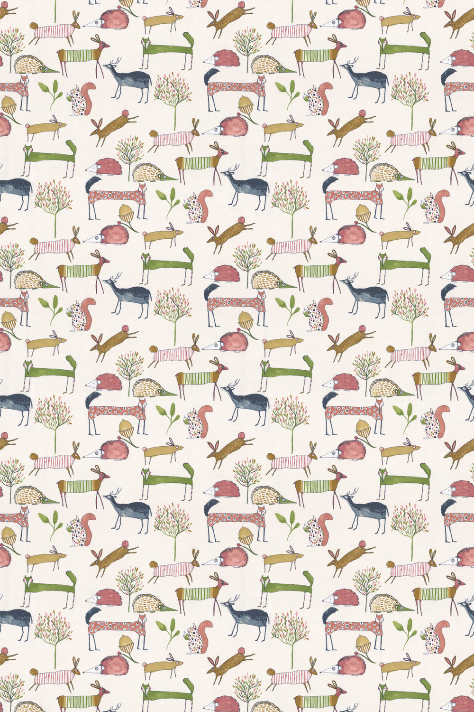 Oh my deer Fabric - Berry - by Prestigious