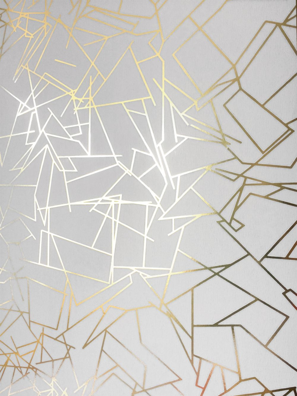 Erica Wakerly Angles  Gold / White Wallpaper - Product code: ANGLES 008