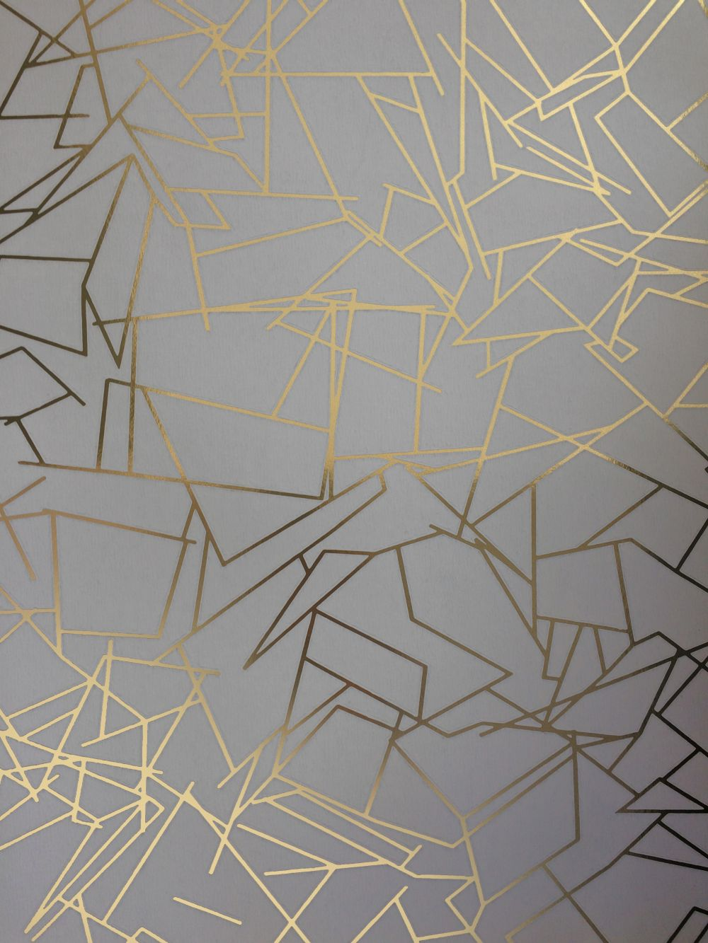 Angles By Erica Wakerly Gold Zinc Grey Wallpaper