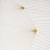 Erica Wakerly Fan Gold / White Wallpaper