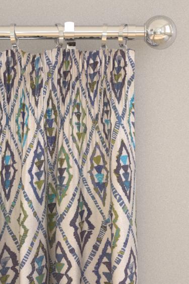 Prestigious Inca Indigo Curtains - Product code: 3576/705