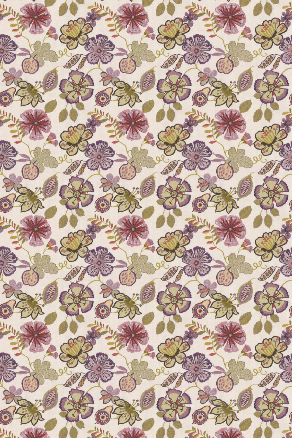 Passion flower Fabric - Orchid - by Prestigious