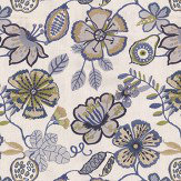 Prestigious Passion flower Indigo Fabric - Product code: 3577/705