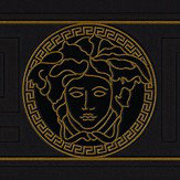 Versace Greek Key Border Black
