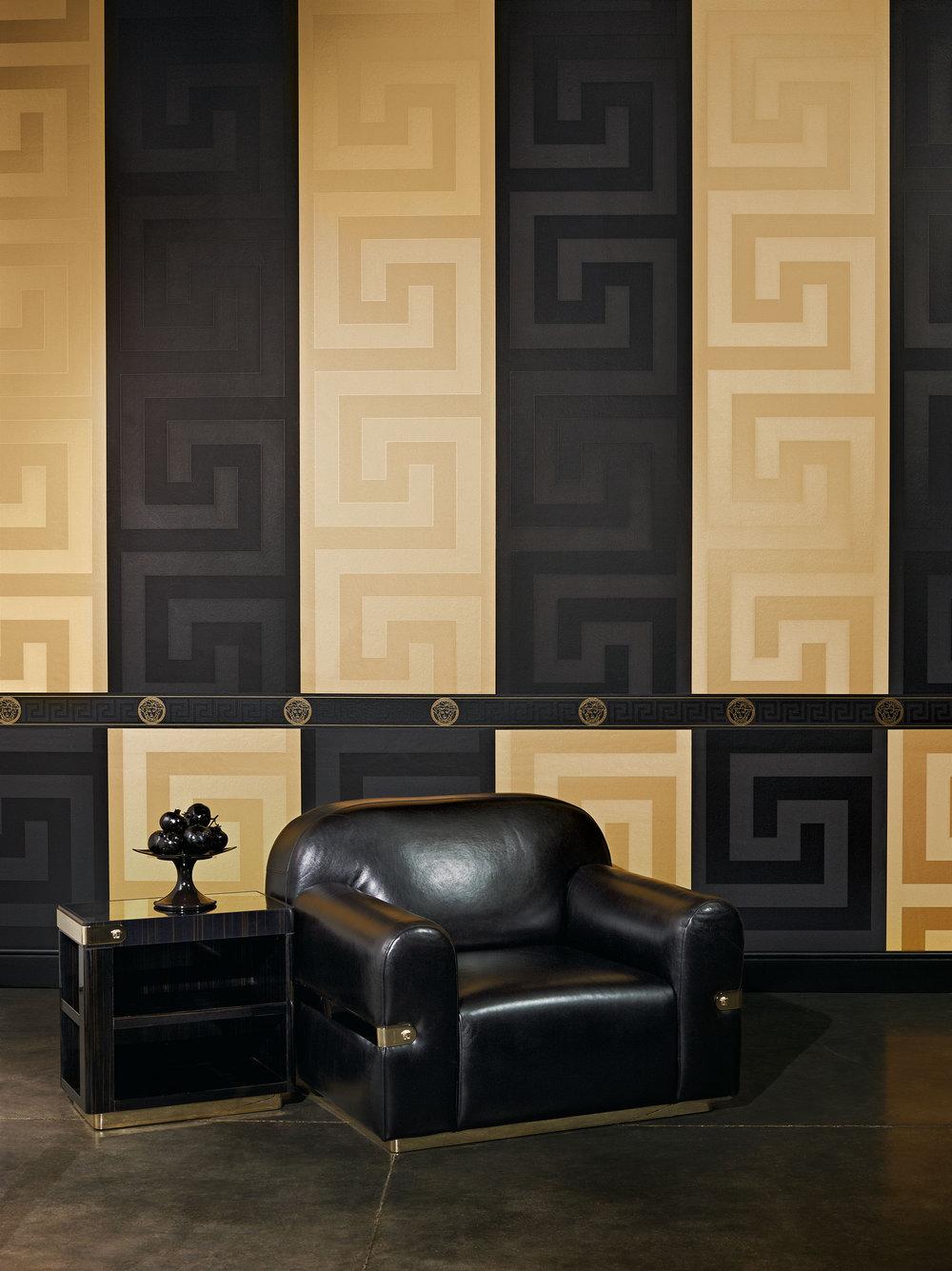Versace Greek Key Border Black  - Product code: 93522-4