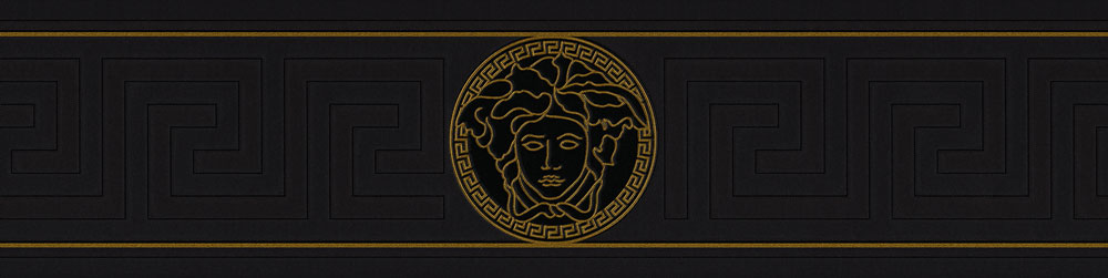 Greek Key Border By Versace Black Wallpaper Direct