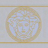 Versace Greek Key Border Silver