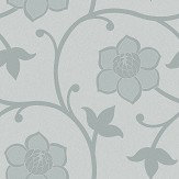 Eco Wallpaper Clematis Blue / Green Wallpaper