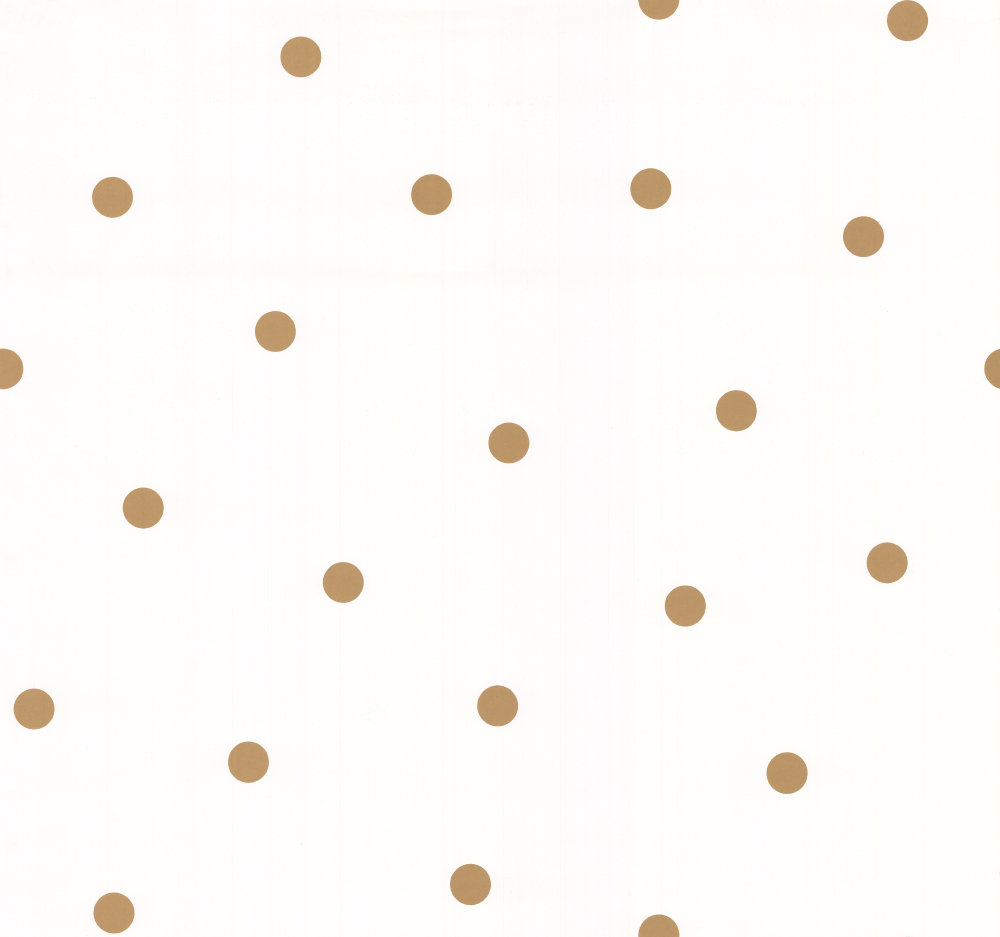 Exceptionnel Shadow Dot by Kate Spade - Gold : Wallpaper Direct UB74