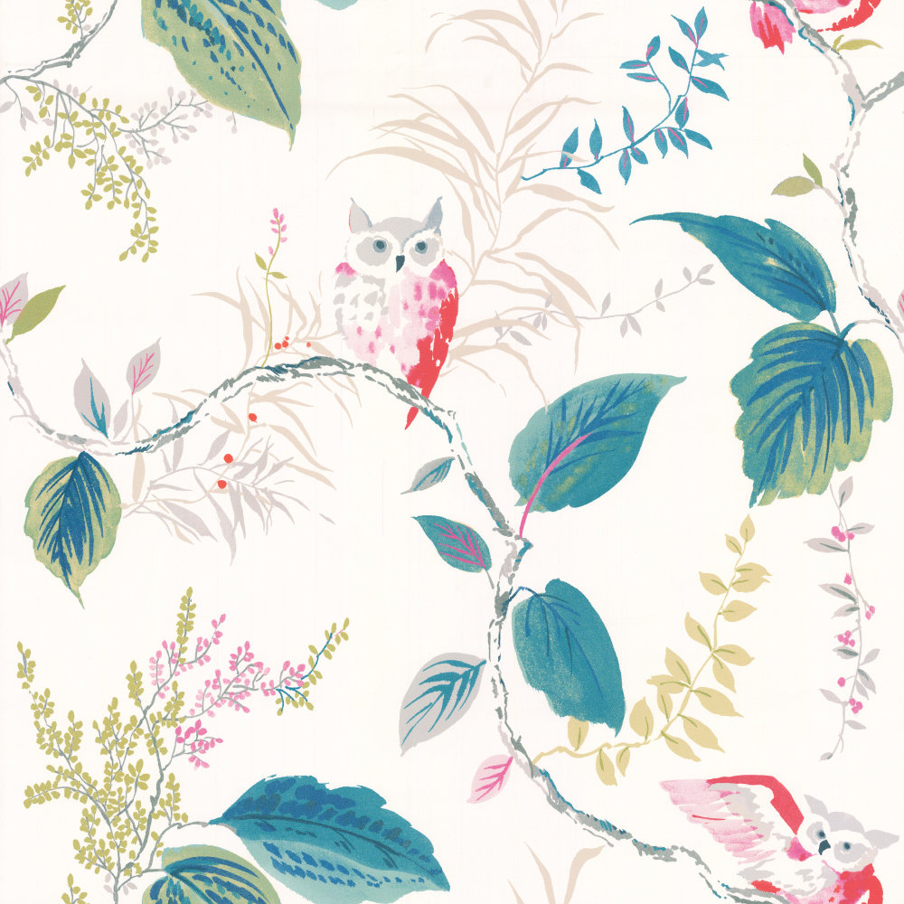Kate Spade Owlish Multi-coloured Wallpaper - Product code: W3331.911.0