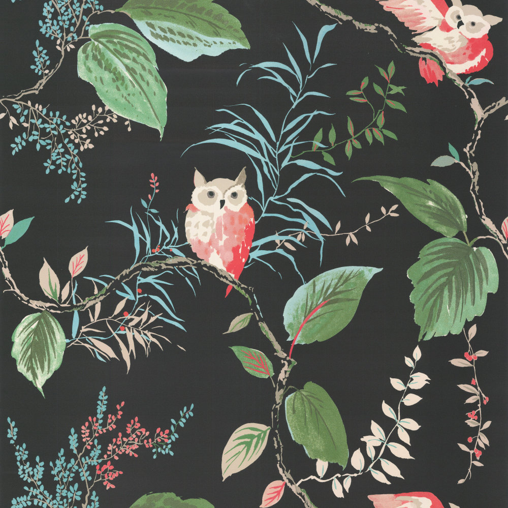 Kate Spade Owlish Black Wallpaper - Product code: W3331.819.0