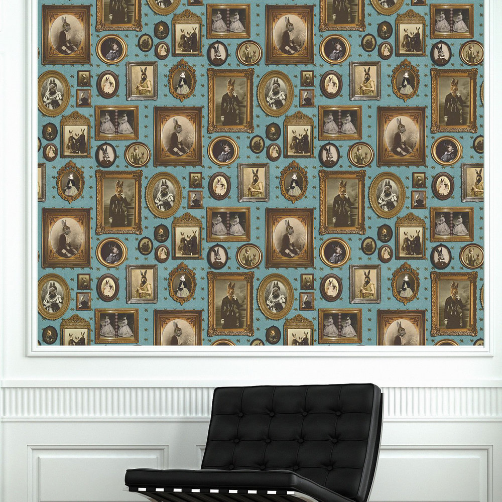 Graduate Collection Rabbit rabbit rabbit Blue Wallpaper - Product code: CC1RABWAL