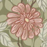 Sandberg Zinnia Green Wallpaper