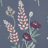 Sandberg Emma Navy Wallpaper - Product code: 427-81