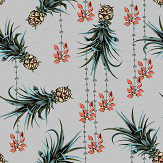 Petronella Hall Pineapples and Petals Flint Wallpaper
