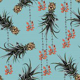 Petronella Hall Pineapples and Petals Ocean Wallpaper
