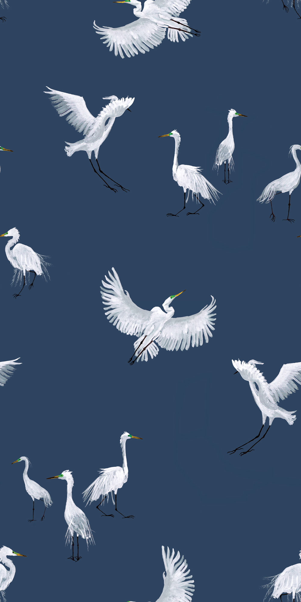 Petronella Hall Egrets Twilight Wallpaper main image