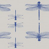 Petronella Hall Dragonfly Grey Wallpaper