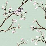 Petronella Hall Blossom Eau De Nil Wallpaper