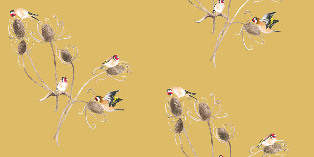 Petronella Hall Goldfinch Straw Wallpaper main image